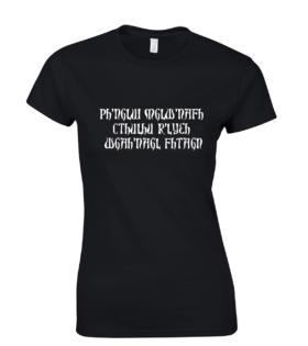 koszulka-chutlhu-damska-inkantacja-znak-starszych-bogow-przod