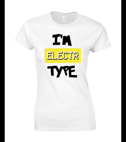 koszulka damska biala im electr type