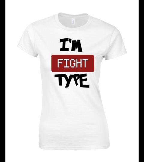 koszulka damska biala im fight type