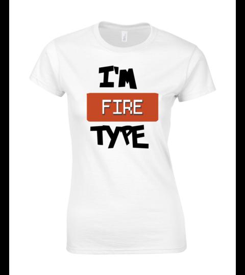 koszulka damska biala im fire type