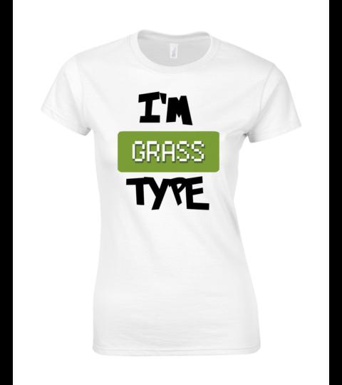 koszulka damska biala im grass type