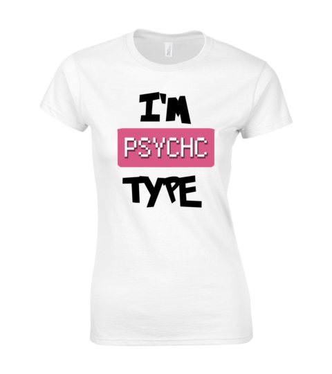 koszulka damska biala im psychic type