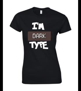 koszulka damska czarna im dark type