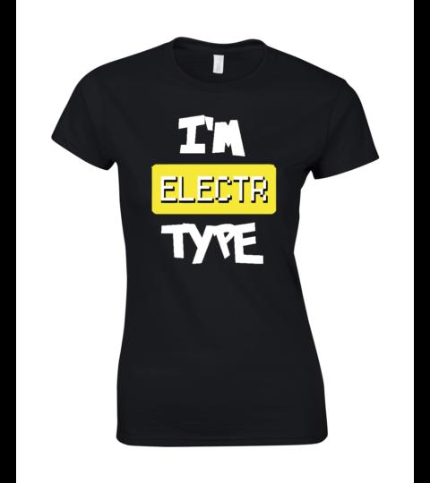 koszulka damska czarna im electr type