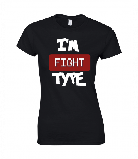 koszulka damska czarna im fight type
