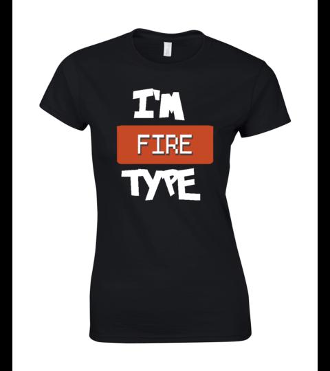 koszulka damska czarna im fire type