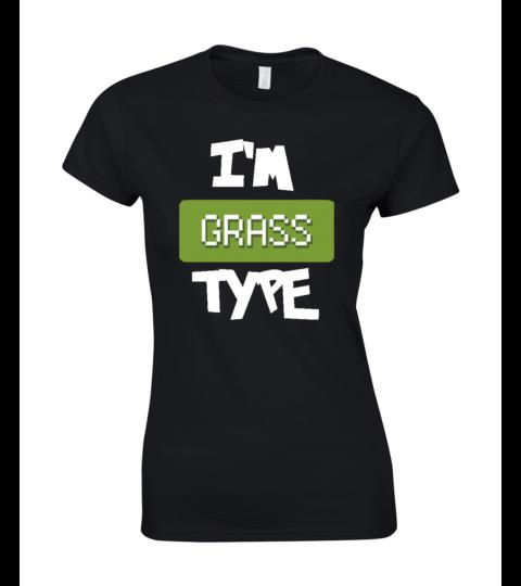 koszulka damska czarna im grass type