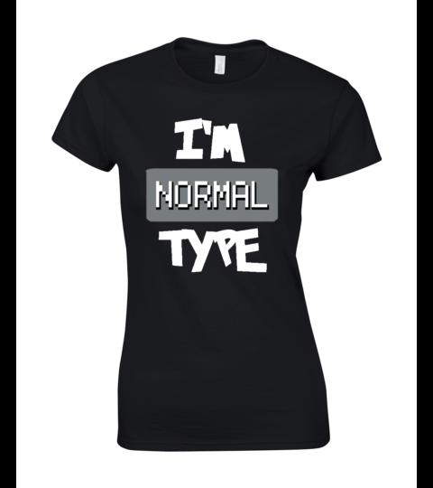 koszulka damska czarna im normal type
