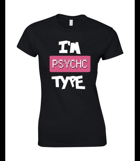 koszulka damska czarna im psychic type