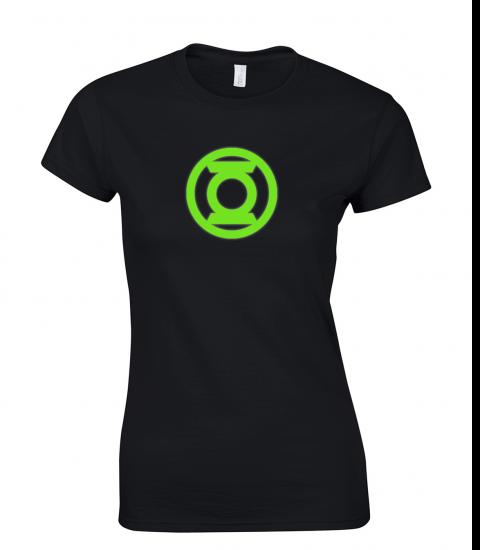 koszulka-damska-green-lantern-swiecaca-w-ciemnosci-w-nocy