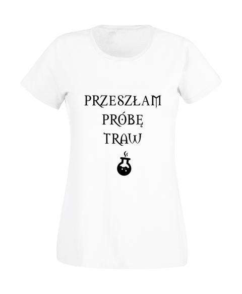 koszulka-damska-przeszlam-probe-traw-biala
