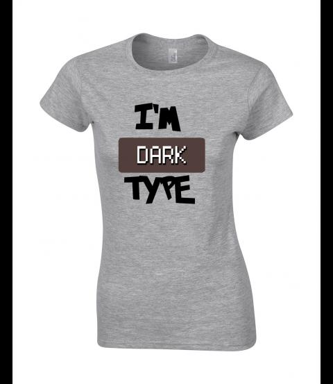 koszulka damska szara im dark type