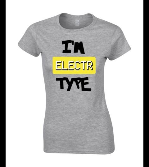 koszulka damska szara im electr type