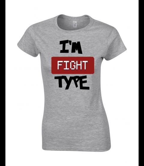 koszulka damska szara im fight type