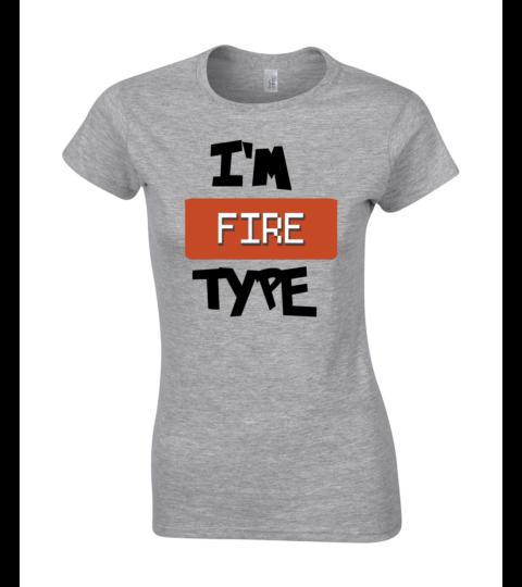 koszulka damska szara im fire type
