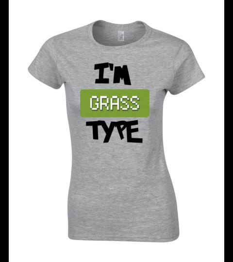 koszulka damska szara im grass type