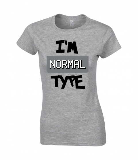 koszulka damska szara im normal type