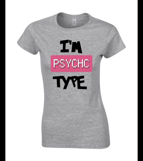koszulka damska szara im psychic type