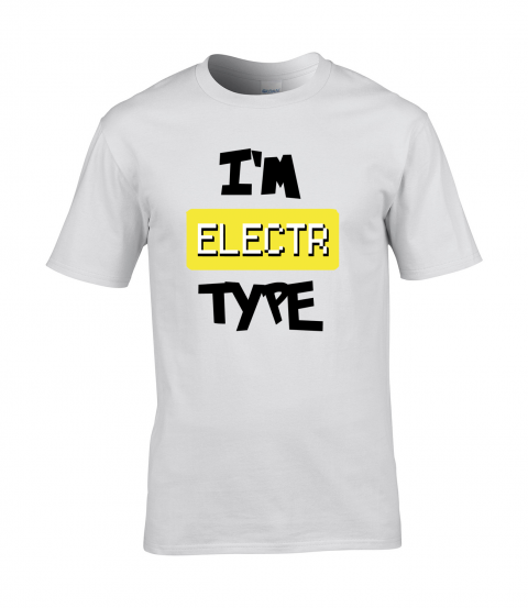 koszulka meska biala im electr type