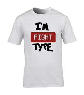 koszulka meska biala im fight type