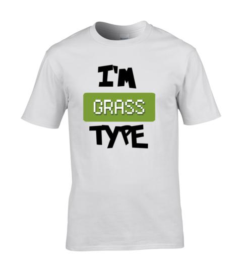 koszulka meska biala im grass type