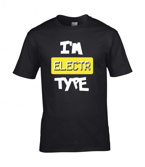 koszulka meska czarna im electr type