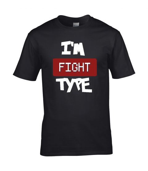 koszulka meska czarna im fight type