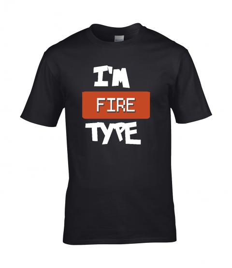 koszulka meska czarna im fire type