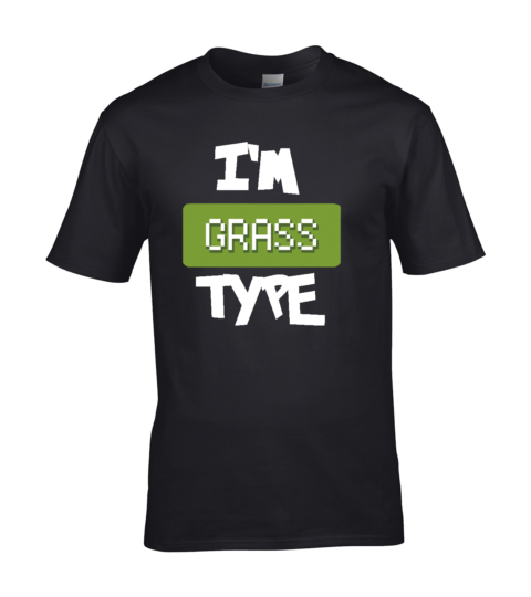 koszulka meska czarna im grass type