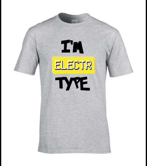 koszulka meska szara im electr type