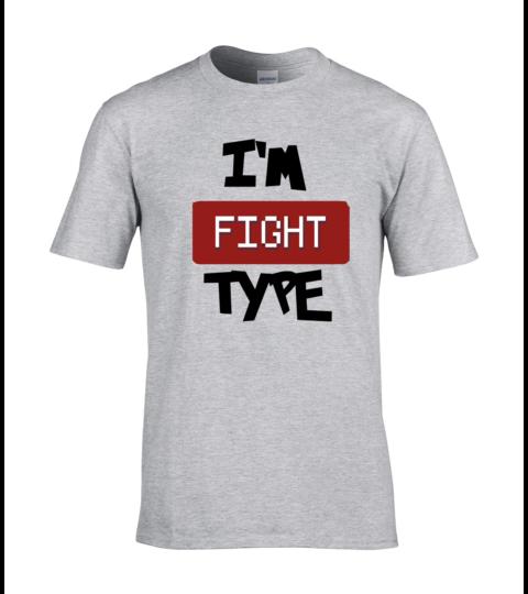 koszulka meska szara im fight type