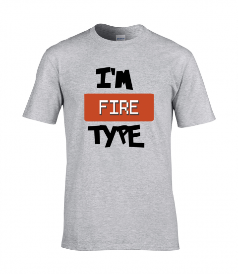 koszulka meska szara im fire type
