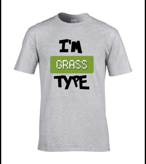 koszulka meska szara im grass type
