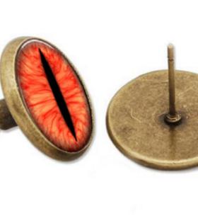 kolczyki-oko-saurona-brazowe