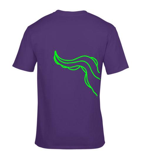 koszulka macki cthulhu fioletowa neonowa tyl