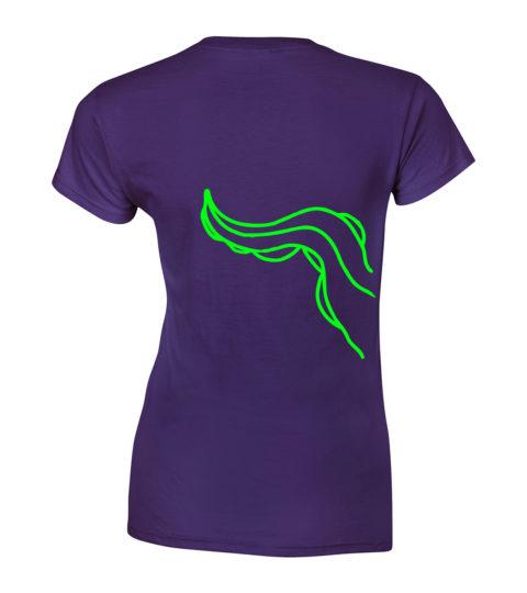 macki koszulka fioletowa neonowa damska tyl