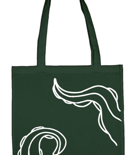 torba macki ctuhlhu ciemnozielona biala