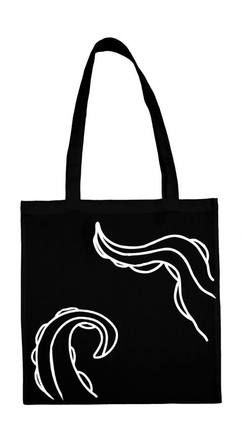 torba macki ctuhlhu czarna biala