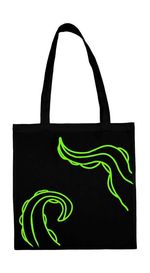 torba macki ctuhlhu czarna neonowa