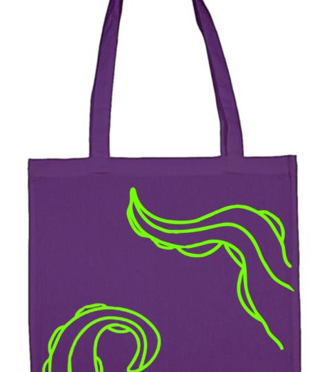 torba macki ctuhlhu fioletowa neonowa