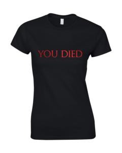 koszulki dark souls damskie you died