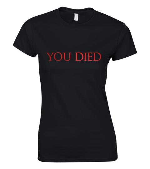 koszulka damska dark souls you died