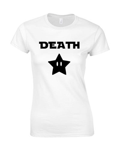koszulka damska death star biala