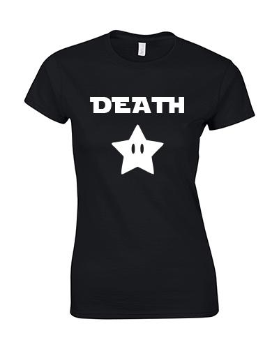 koszulka damska death star czarna biala