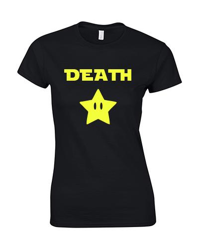 koszulka damska death star czarna neonowa