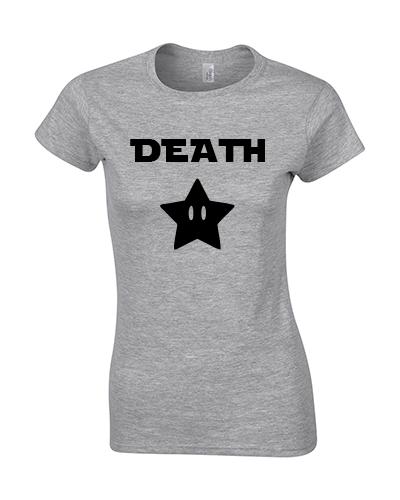 koszulka damska death star szara