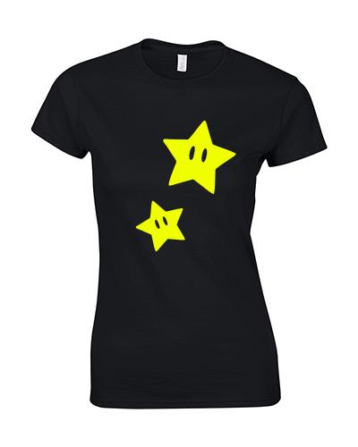 koszulka damska gwiazdka mario star czarna