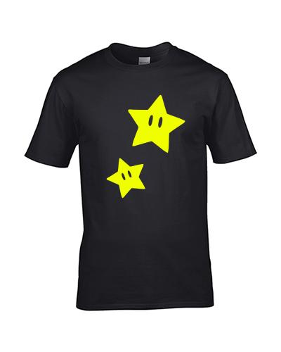 koszulka gwiazdka mario star meska czarna