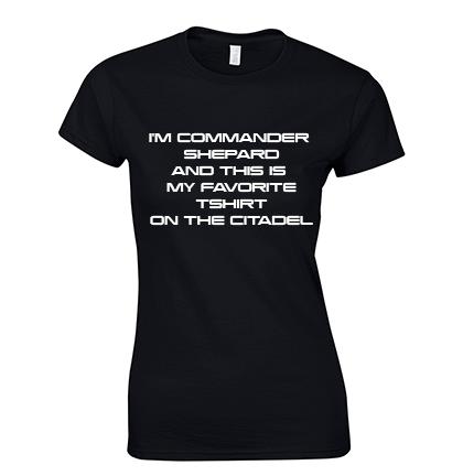 koszulka jestem komandor shepard damska