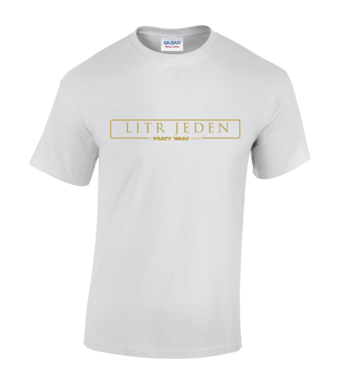 koszulka litr jeden meska biala